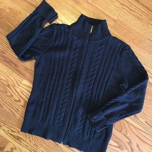 Knit Zip up Sweater M